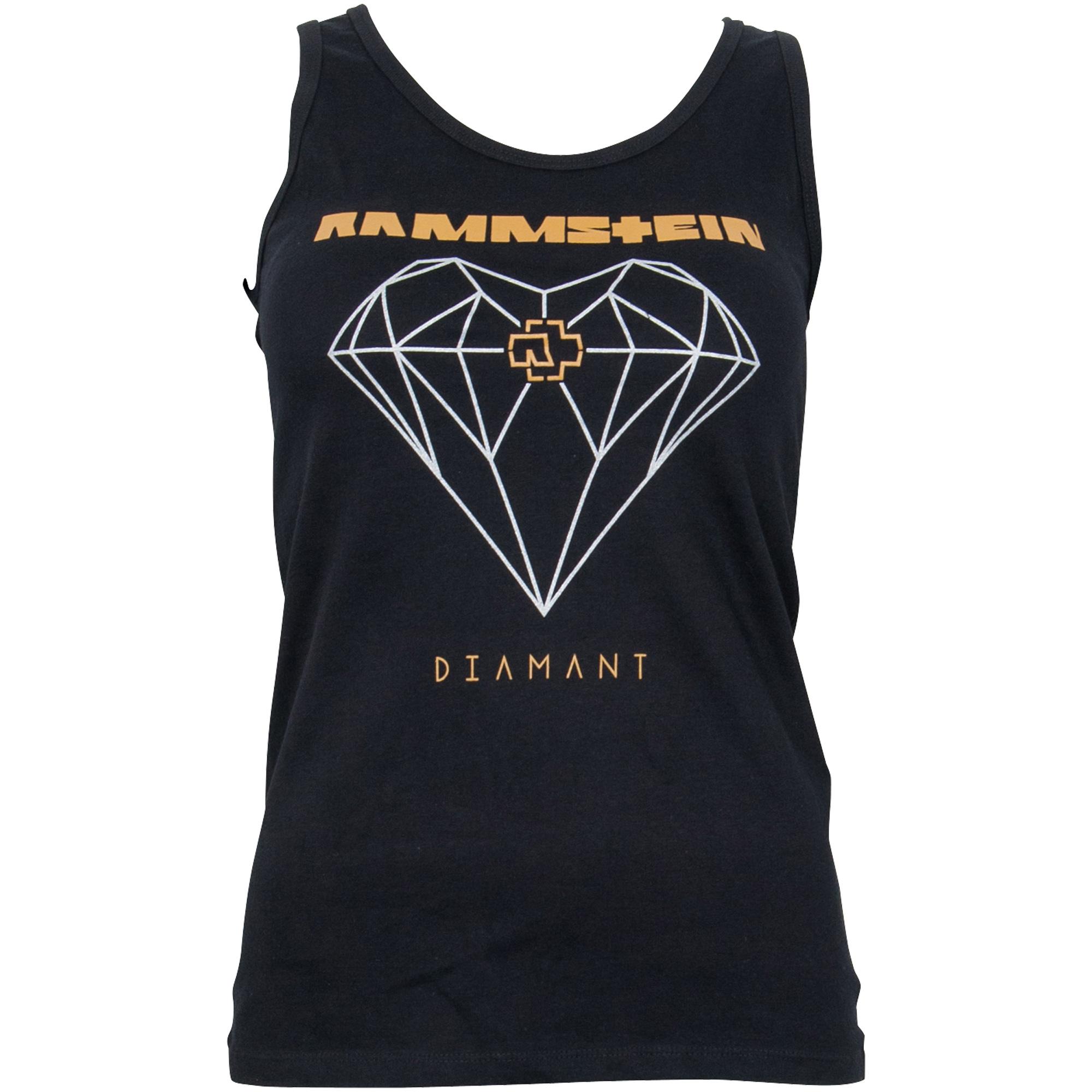 Rammstein - Girly Tanktop - Diamant - schwarz