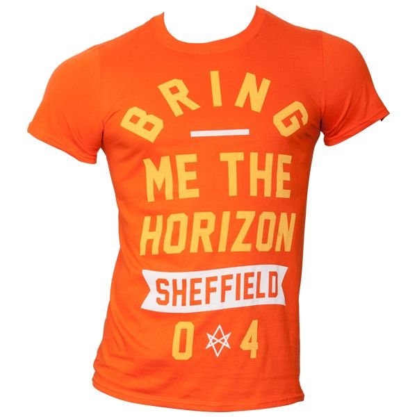Bring Me The Horizon - T-Shirt Big Text - orange