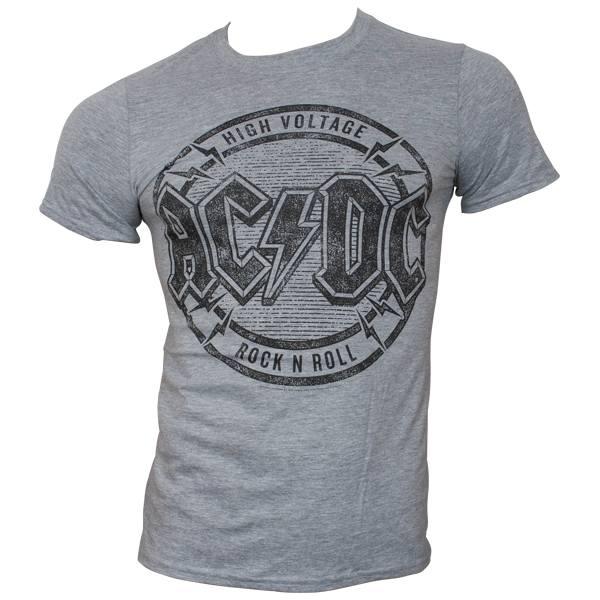 AC/DC - T-Shirt HV Rock N Roll - grau