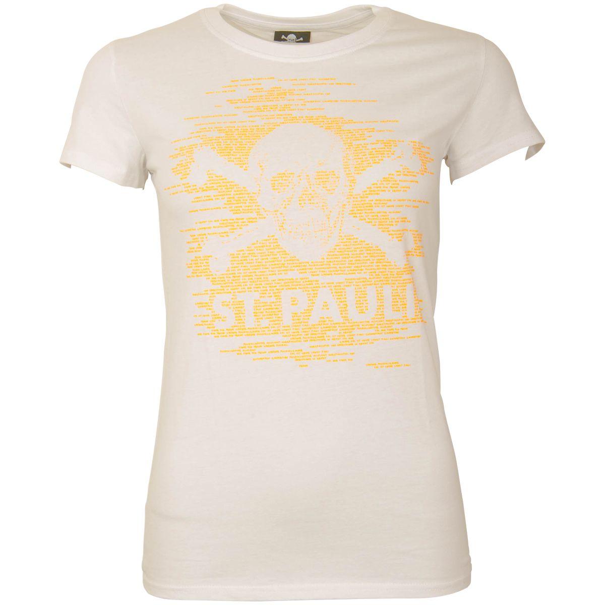 FC St. Pauli - Damen T-Shirt TK Freude Weiß-Neonorange