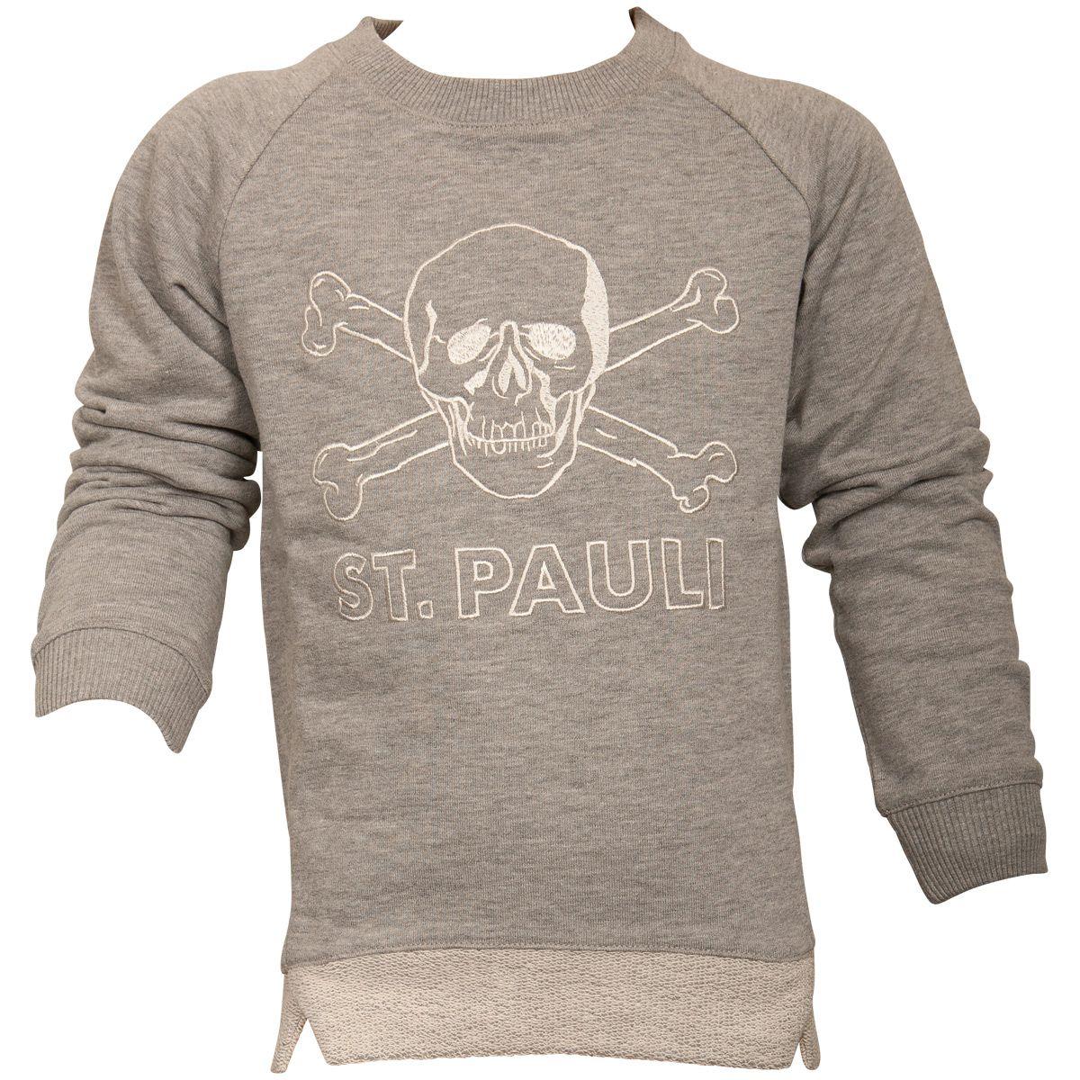 FC St. Pauli - Kinder Sweatshirt Totenkopf - grau