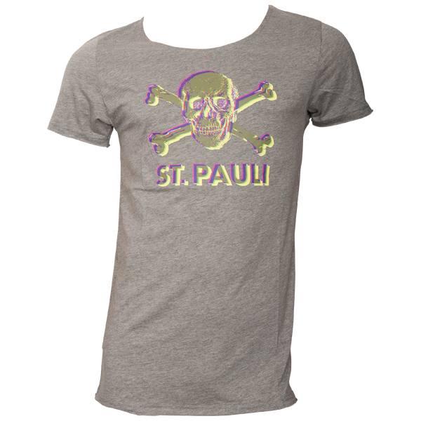 FC St. Pauli - T-Shirt 3D - grau