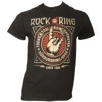 Offizielles Rock am Ring 2018 - Frühbucher T-Shirt Rock Crest - schwarz / limitiert