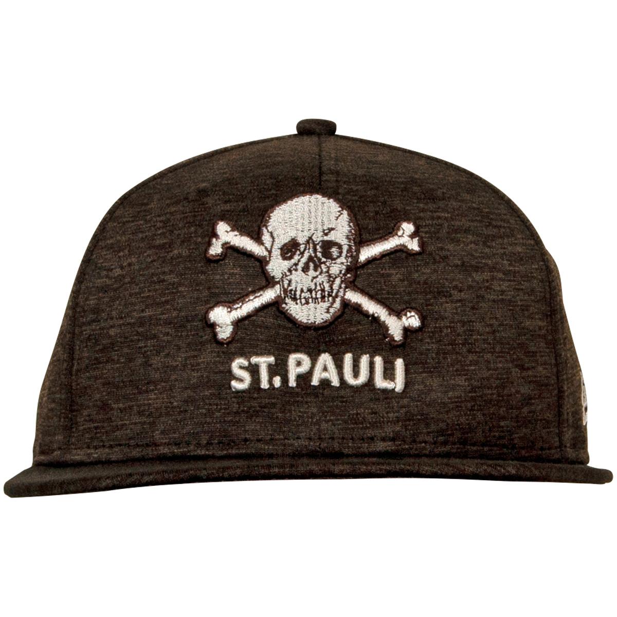 FC St. Pauli - NewEra Kappe Totenkopf Braun-Melange