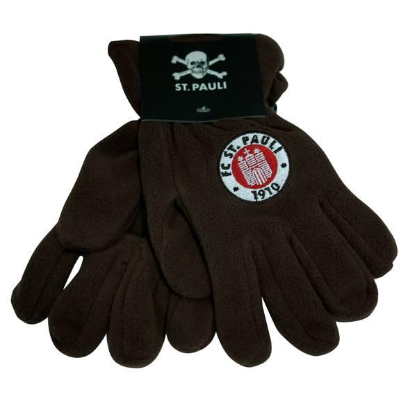 FC St. Pauli - Handschuhe Logo Fleece -braun