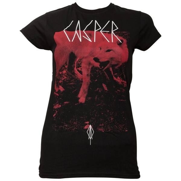 Casper - Frauen T-Shirt Roter Wolf - schwarz