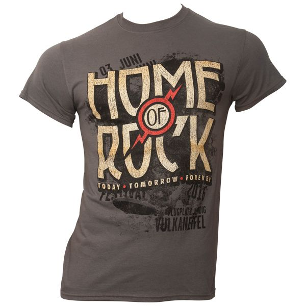 Rock am Ring 2016 - T-Shirt Vintage Logo mit Line-Up - grau