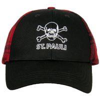 FC St. Pauli - Kappe Holzfäller - schwarz-rot