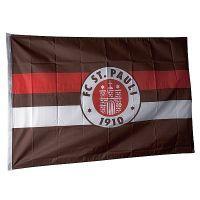 FC St. Pauli - Fahne Braun-Weiß-Rot 100x150 cm