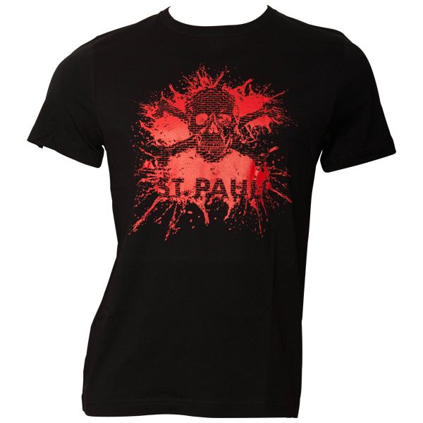 FC St. Pauli T-Shirt Splash TK Schwarz-Rot