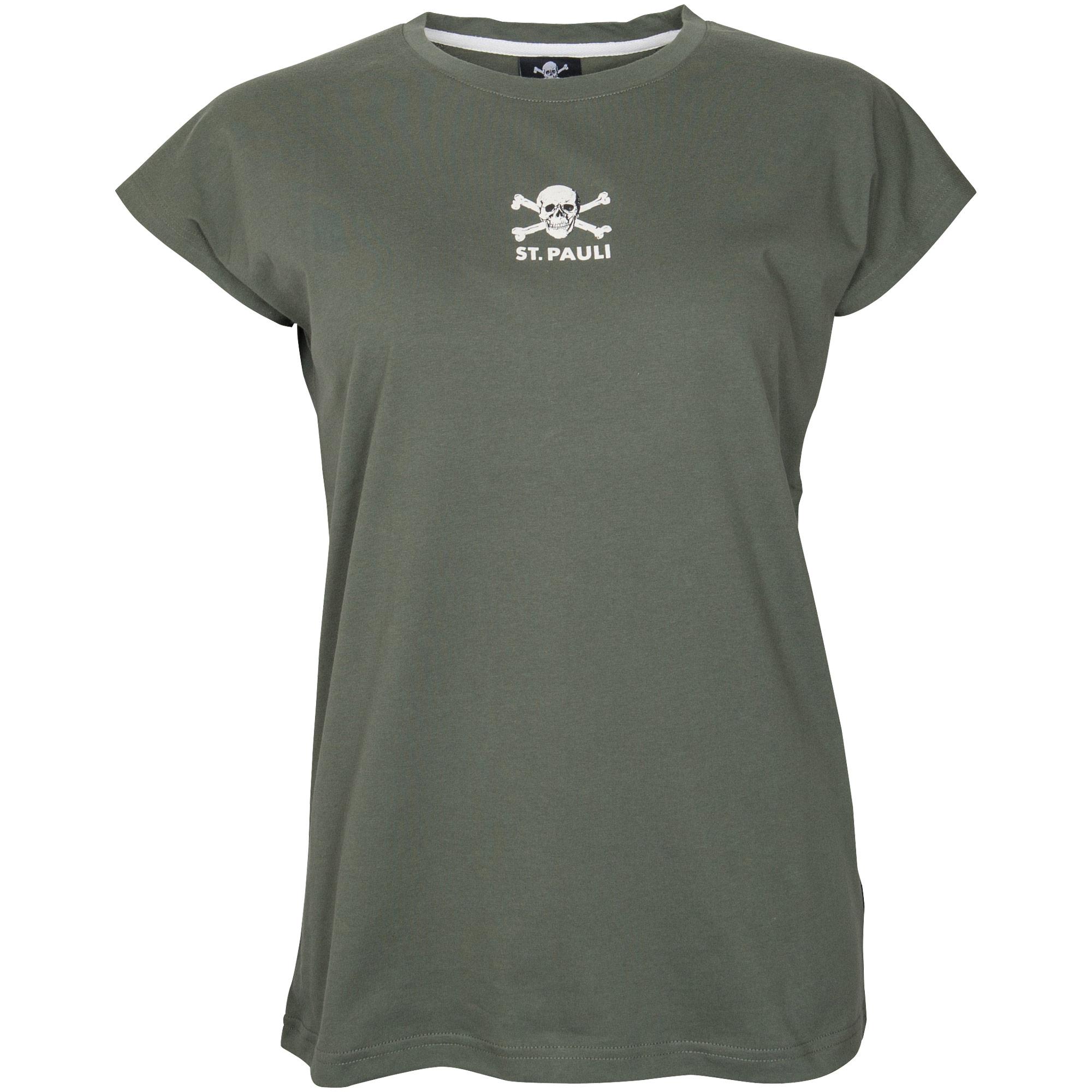 FC St. Pauli - Damen T-Shirt Autumn Green - olivgrün