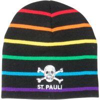 FC St. Pauli - Mütze Rainbow Stripes - schwarz