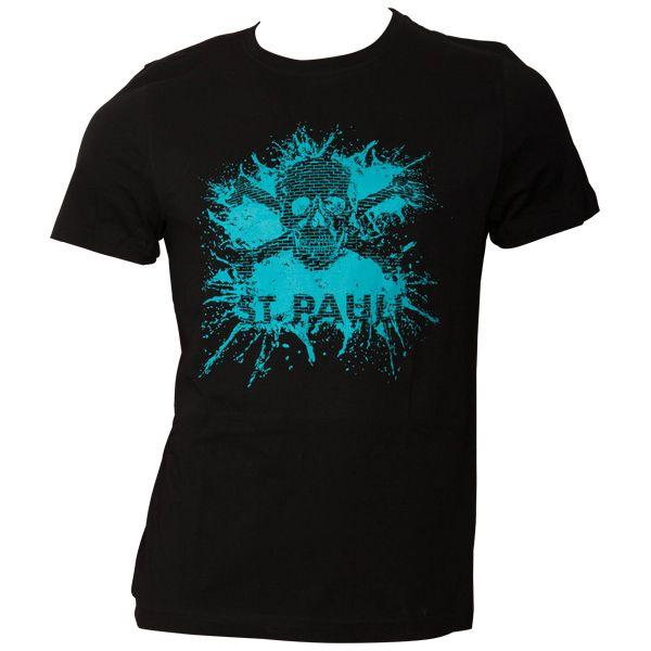 FC St. Pauli T-Shirt Splash TK Schwarz-Türkis
