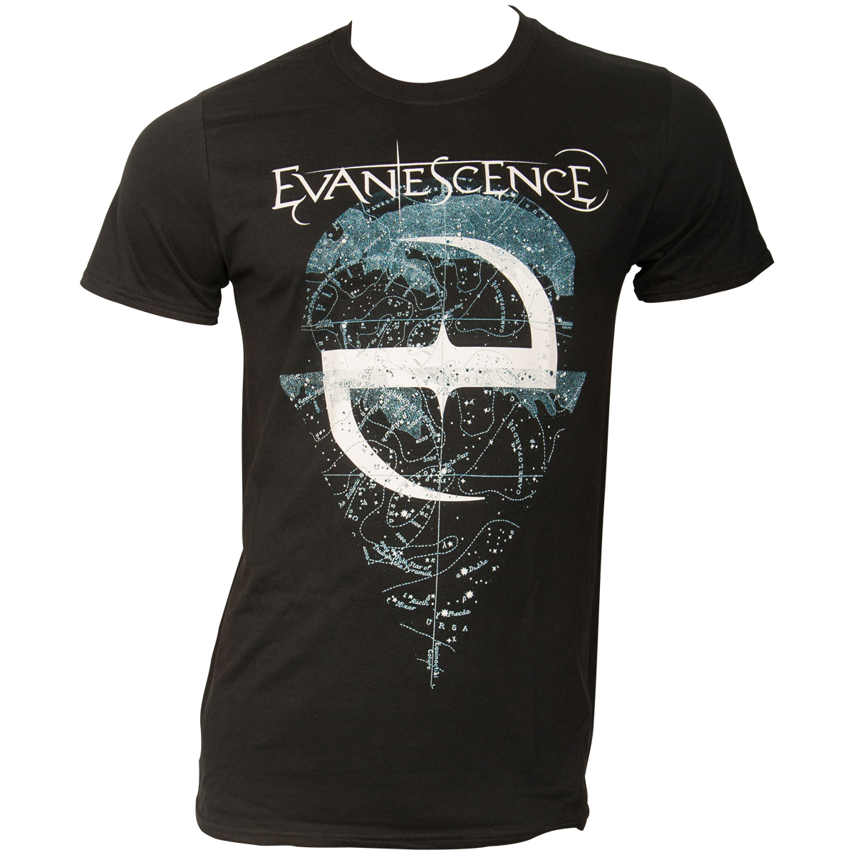 Evanescence - T-Shirt Space Map - schwarz