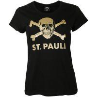 FC St. Pauli - Damen T-Shirt Schwarz-Gold