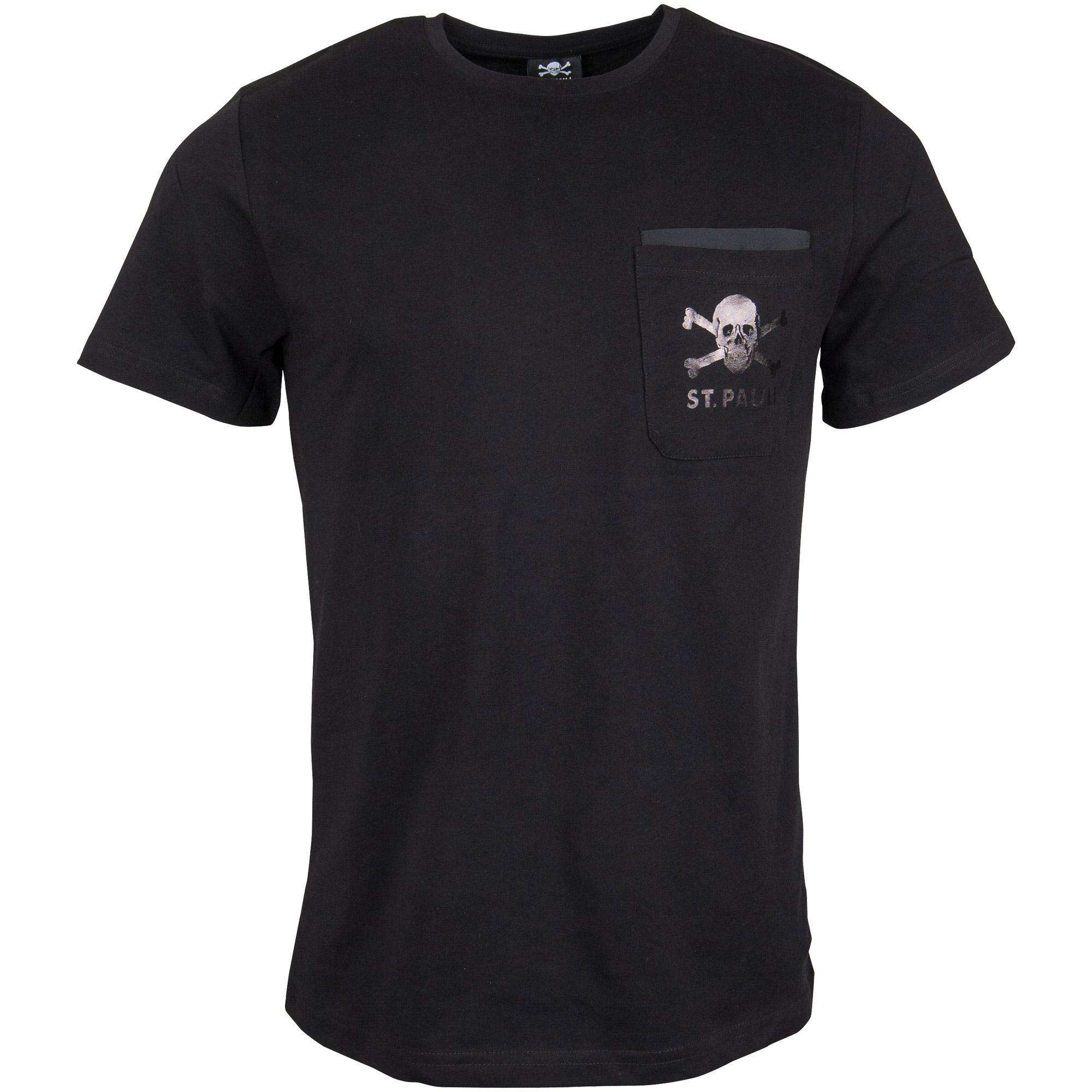 FC St. Pauli - T-Shirt Sweat Nylon - schwarz