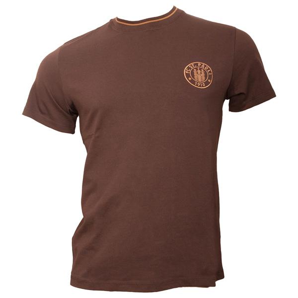 FC St. Pauli - T-Shirt Logo Verein - braun