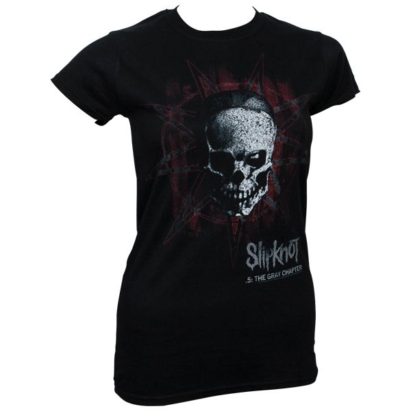 Slipknot - Girlie T-Shirt Star Skull - schwarz