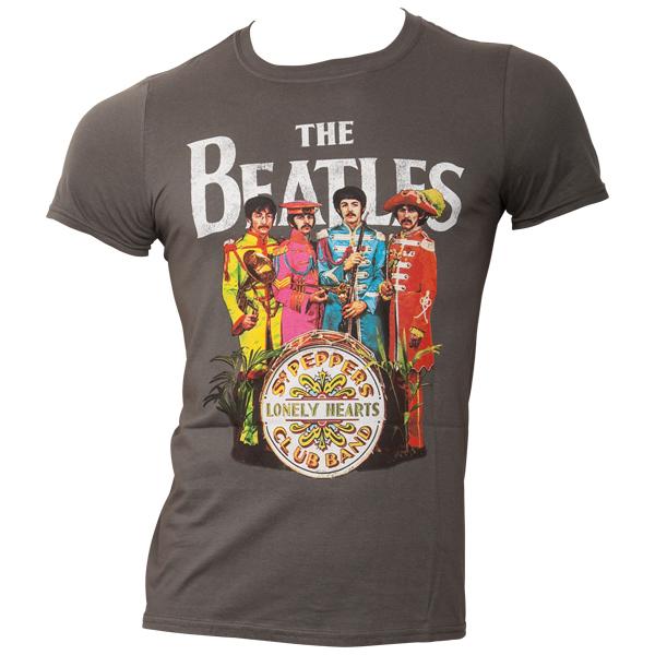 The Beatles - T-Shirt Sgt Pepper - grau