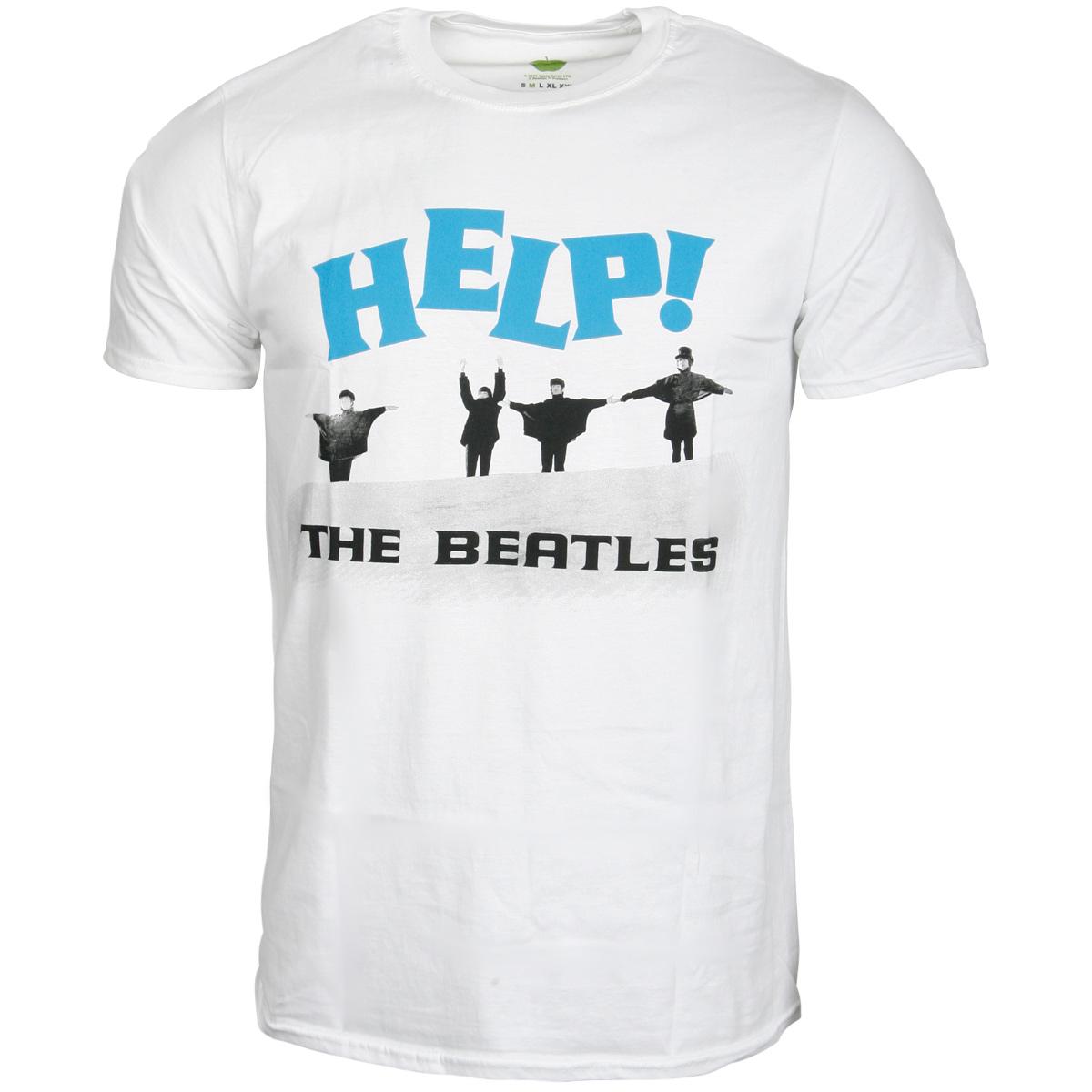 The Beatles - T-Shirt Help! Snow - weiß