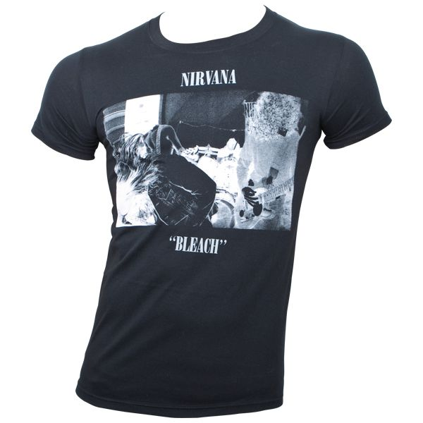 Nirvana - T-Shirt Bleach - schwarz