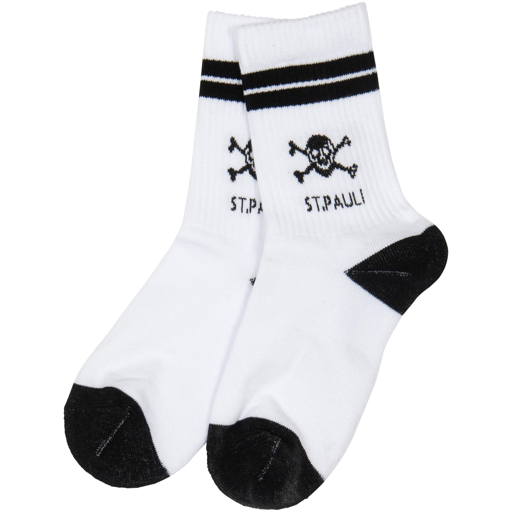 FC St. Pauli - Socken Tennis Totenkopf - weiß