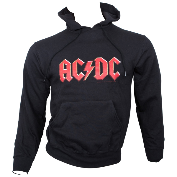 AC/DC - Kapuzenpullover Red Logo - schwarz