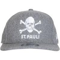 FC St. Pauli - Cap New Era Totenkopf Filz 950 - grau