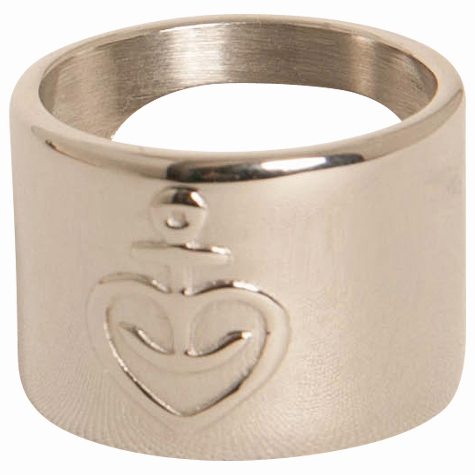 Astra - Ring Herzanker mit Flaschenöffner - Edelstahl