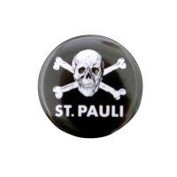 FC St. Pauli - Button Totenkopf - schwarz