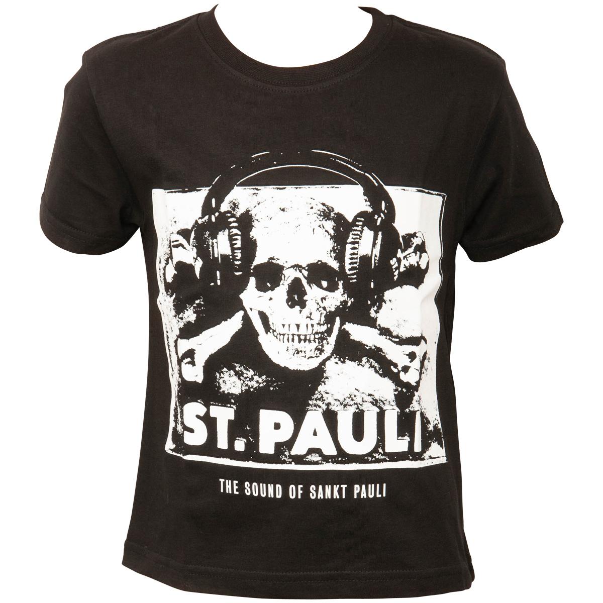 FC St. Pauli - Kinder T-Shirt Sound - schwarz