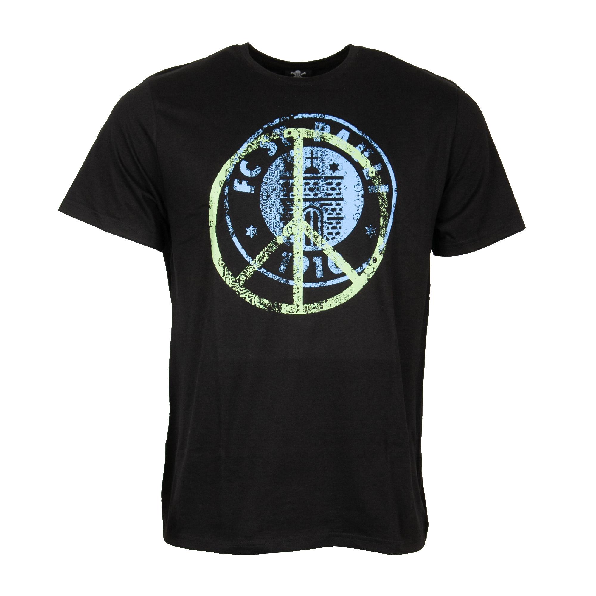 FC St. Pauli - T-Shirt Peace Blau-Grün - schwarz
