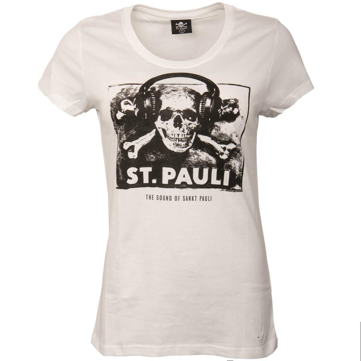 f5575d737829a FC St. Pauli - White Ladies T-Shirt Sound | ROCKnSHOP