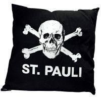 FC St. Pauli - Kissen Totenkopf 40x40 cm - schwarz