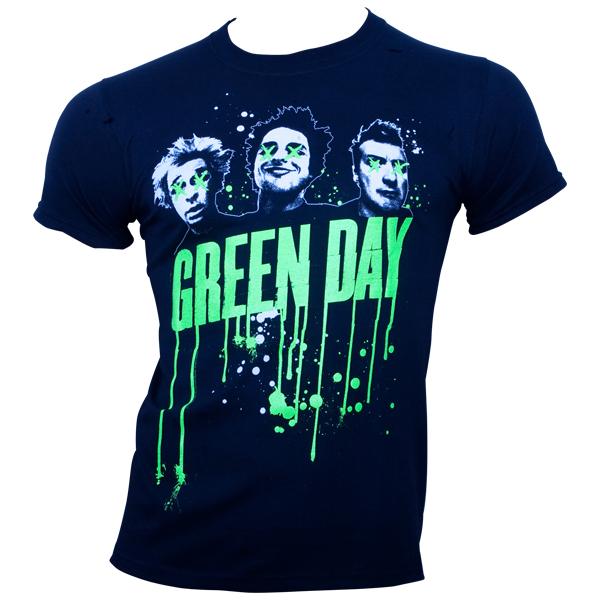 Green Day - T-Shirt Drips - schwarz