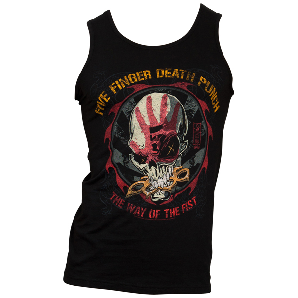 Five Finger Death Punch - Tank Top Knucklehead - schwarz