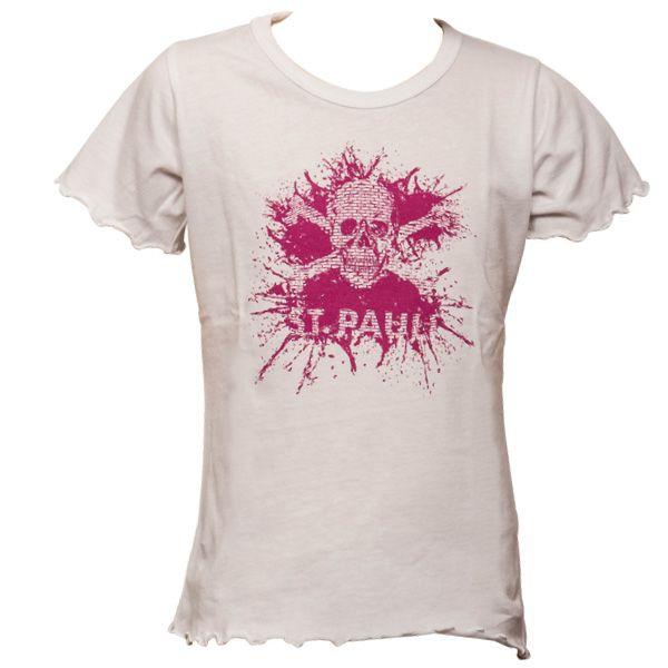 FC St. Pauli Mädchen Kinder T-Shirt Splash TK Weiß-Pink