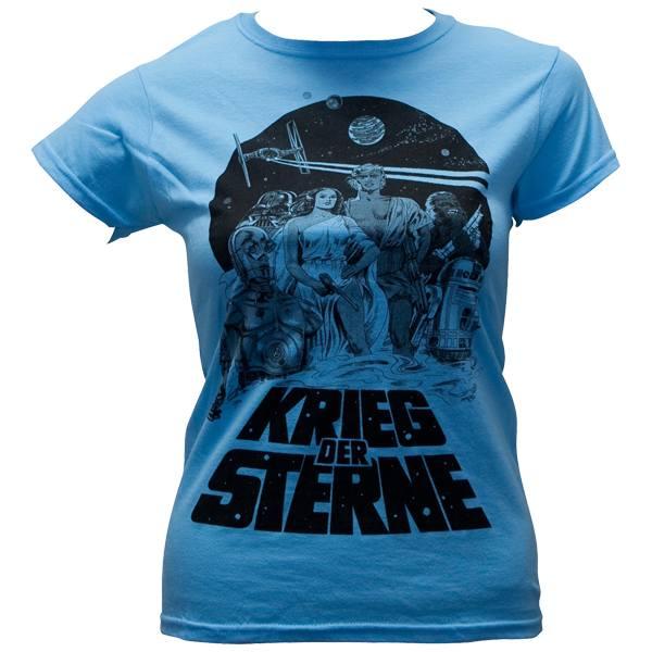 """Star Wars - Girlie-Shirt """"Krieg der Sterne"""" - stone blau"""