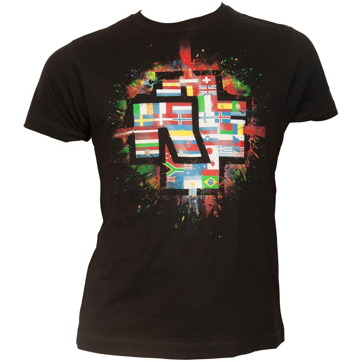 Rammstein - T-Shirt Flaggen - schwarz