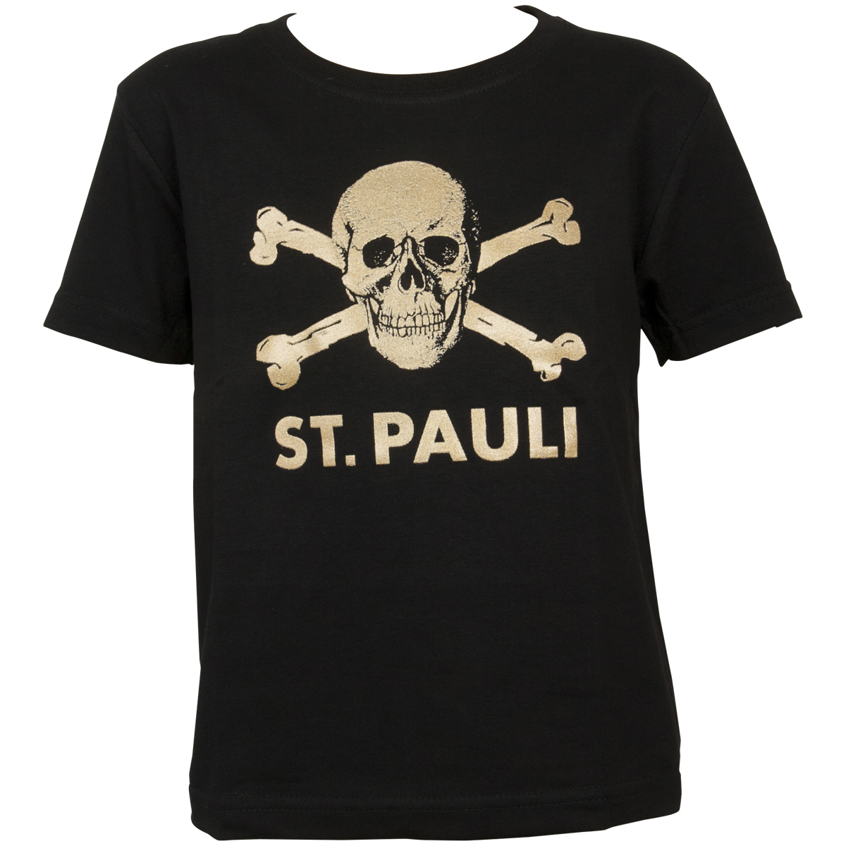 FC St. Pauli - Kinder T-Shirt Schwarz-Gold