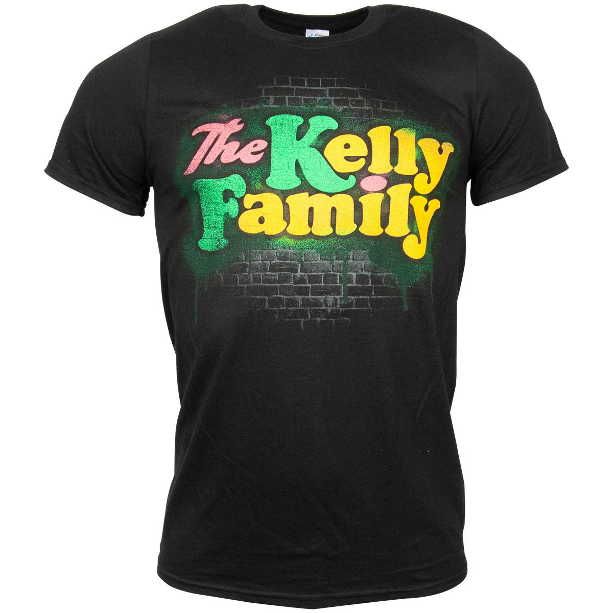 The Kelly Family - T-Shirt Spray Logo - schwarz