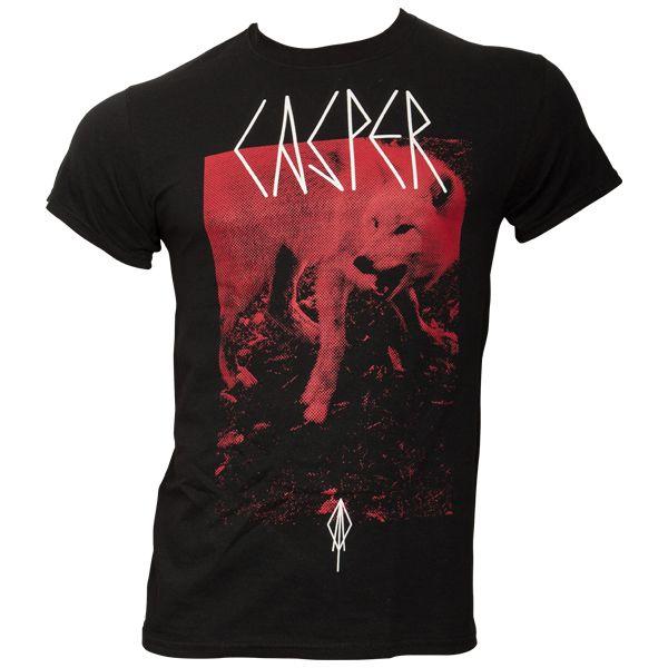 Casper - T-Shirt Roter Wolf - schwarz