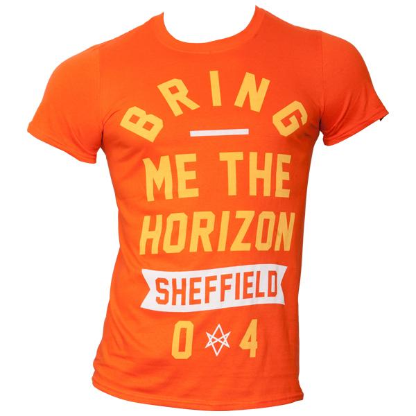 Bring Me The Horizon - T-Shirt Big Text - orange