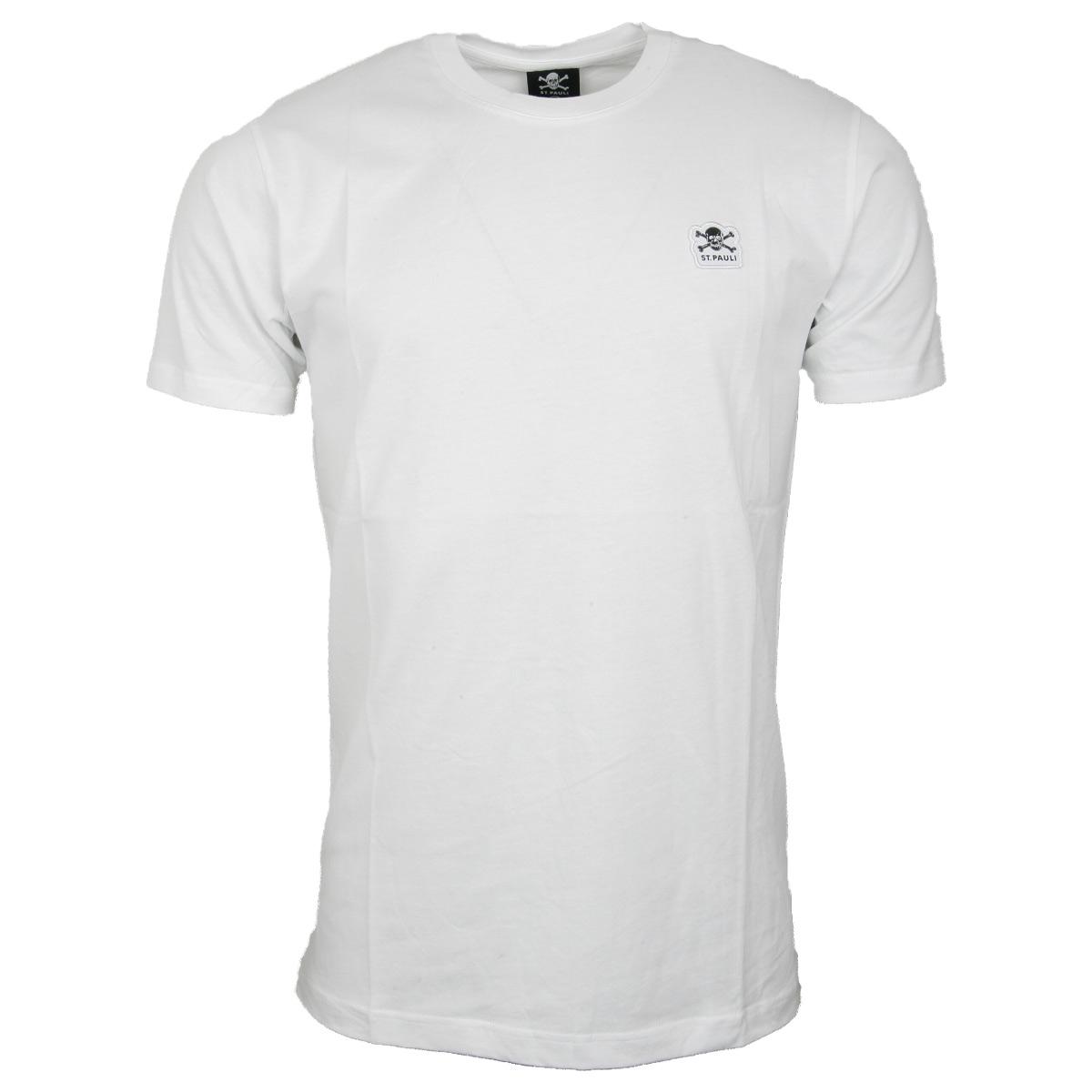 FC St. Pauli - T-Shirt Business Basic Totenkopf - weiß