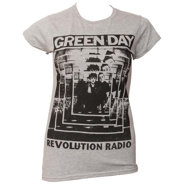 Green Day - Frauen T-Shirt Power Shot - grau