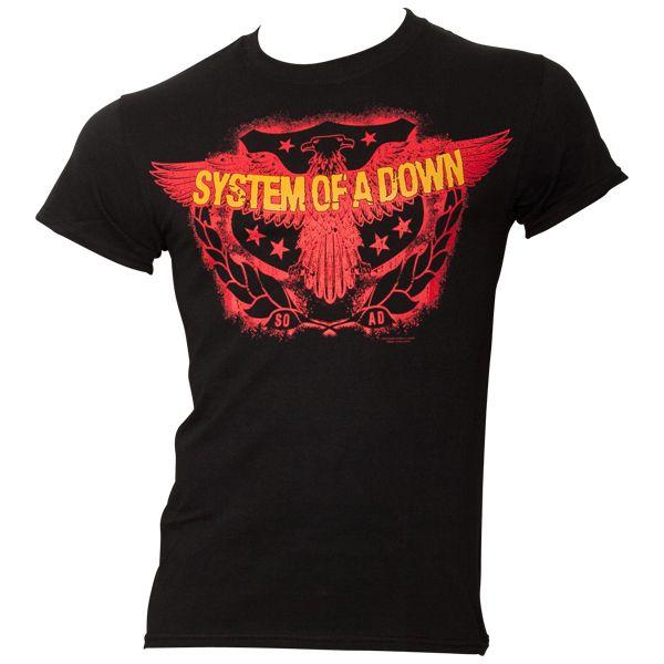 system of a down t shirt spread eagle black rocknshop. Black Bedroom Furniture Sets. Home Design Ideas