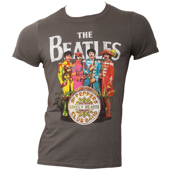 The Beatles - T-Shirt Sgt Pepper - grau