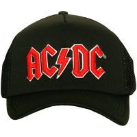 AC/DC - Trucker Baseball Cap Red Logo - schwarz