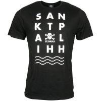 FC St. Pauli - T-Shirt Wave - schwarz