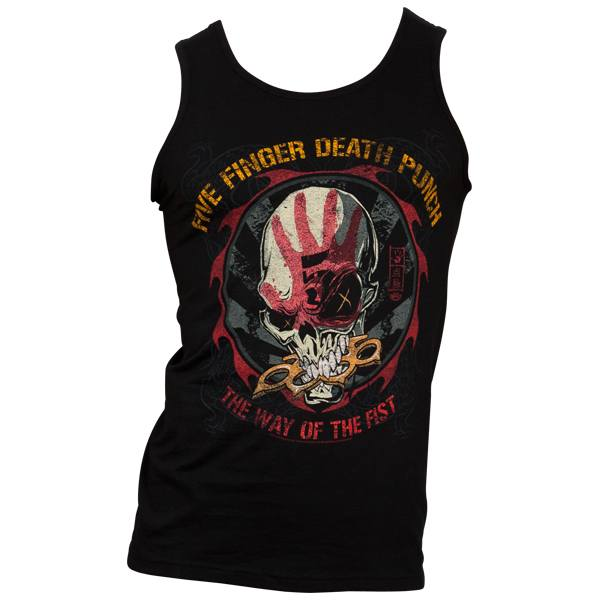 Five Finger Death Punch - Tank Top Knucklehead - schwarz